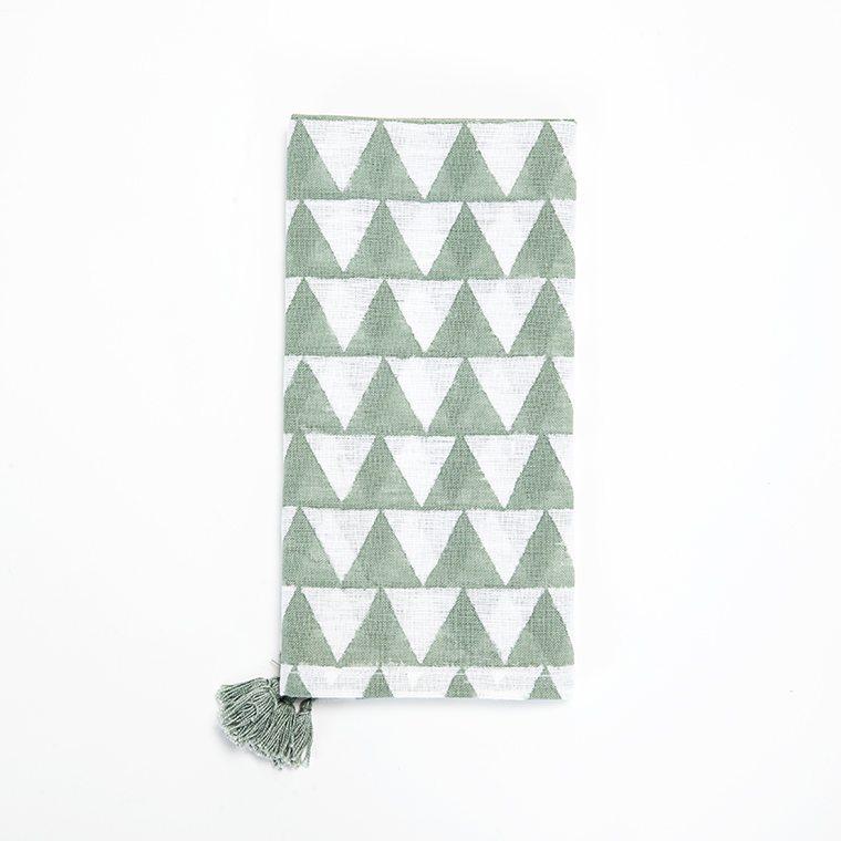 Forest Green Daimonds Linen Napkin l #shopceladon