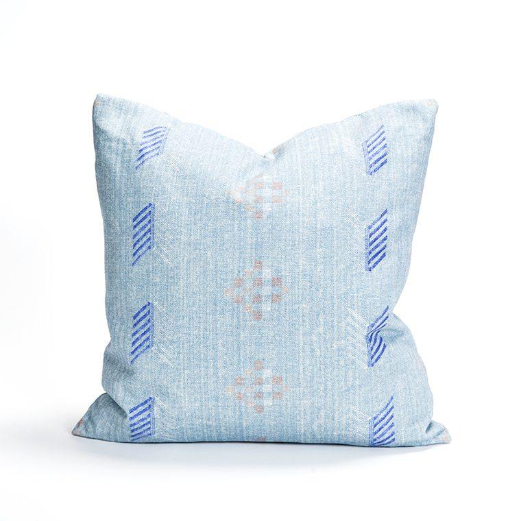 Blue Patterned Throw Pillow l #shopceladon