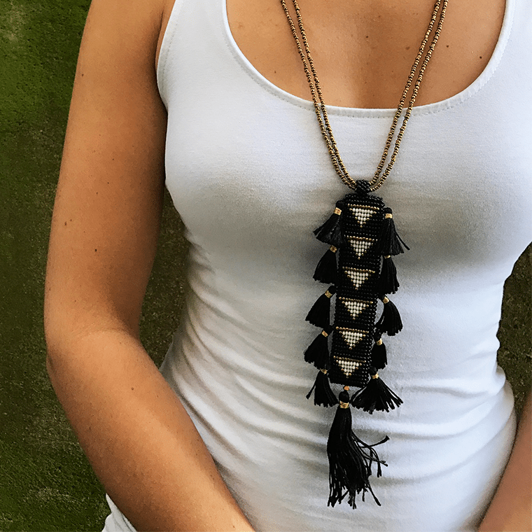rectangular-black-tassle-necklace-shopceladon