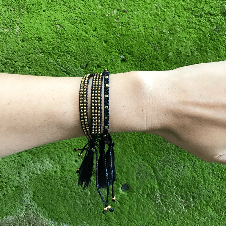 black-beaded-tassle-bracelet-shopceladon
