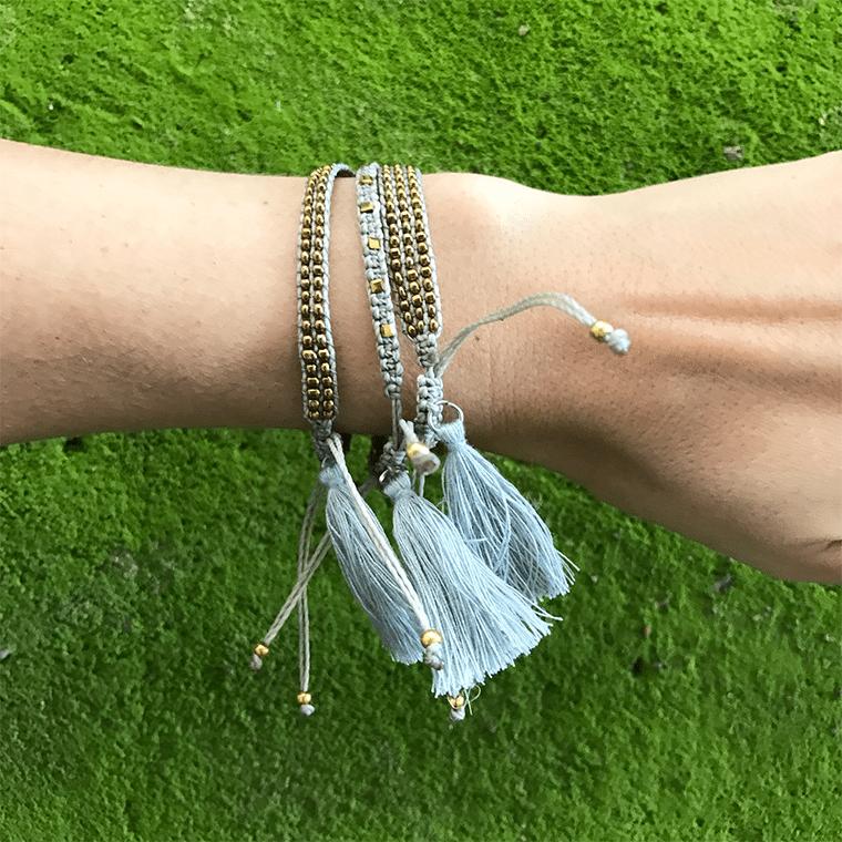gray-beaded-tassle-bracelet-shopceladon