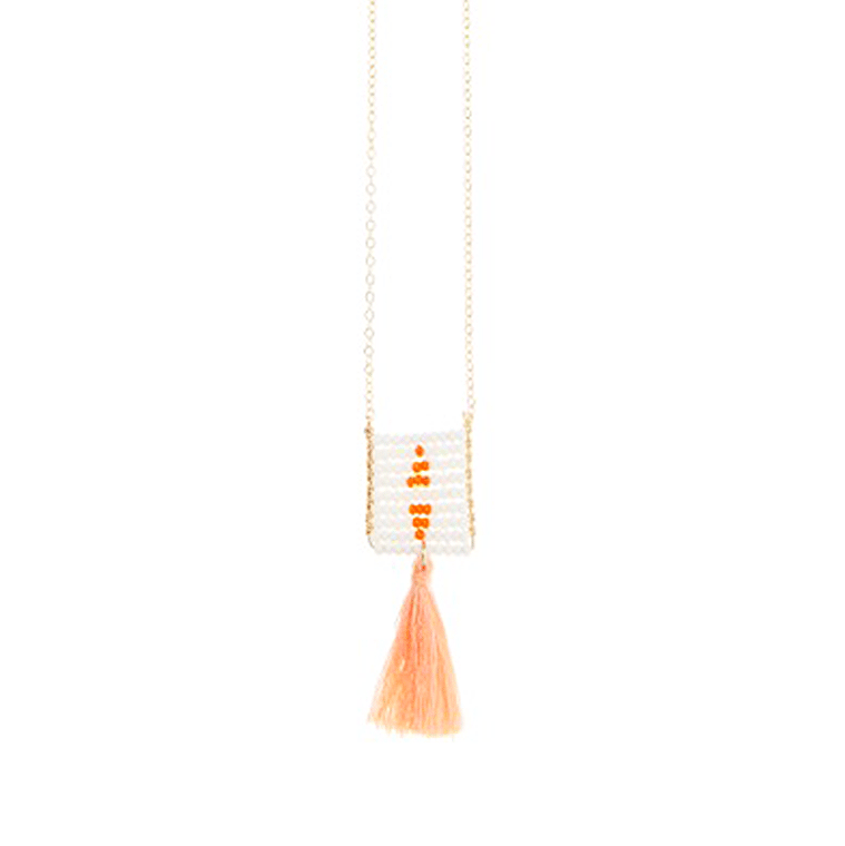 coral-and-white-tassle-necklace-1-shopceladon