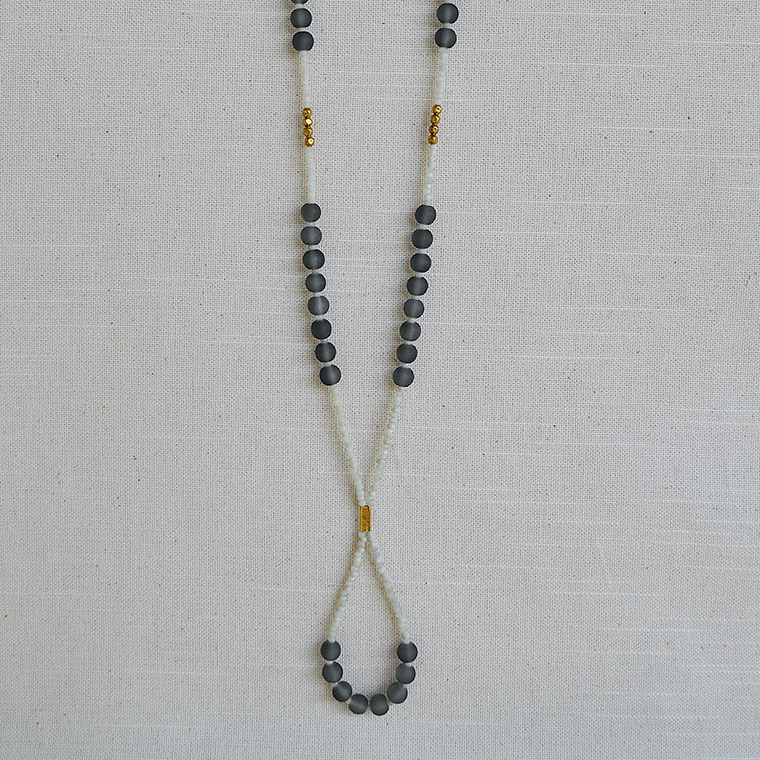 gray-glass-and-white-crystal-necklace-shopceladon