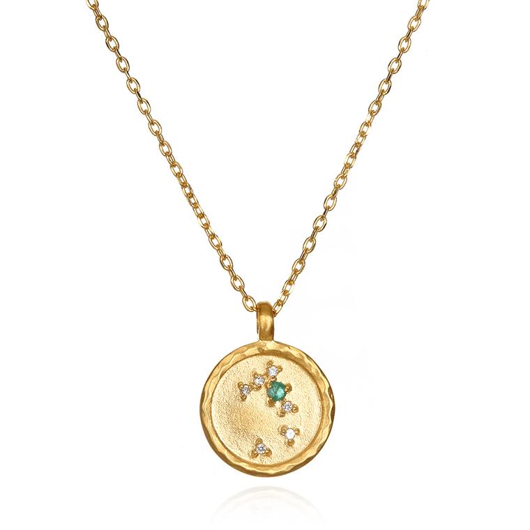 taurus zodiac gold necklace celadon