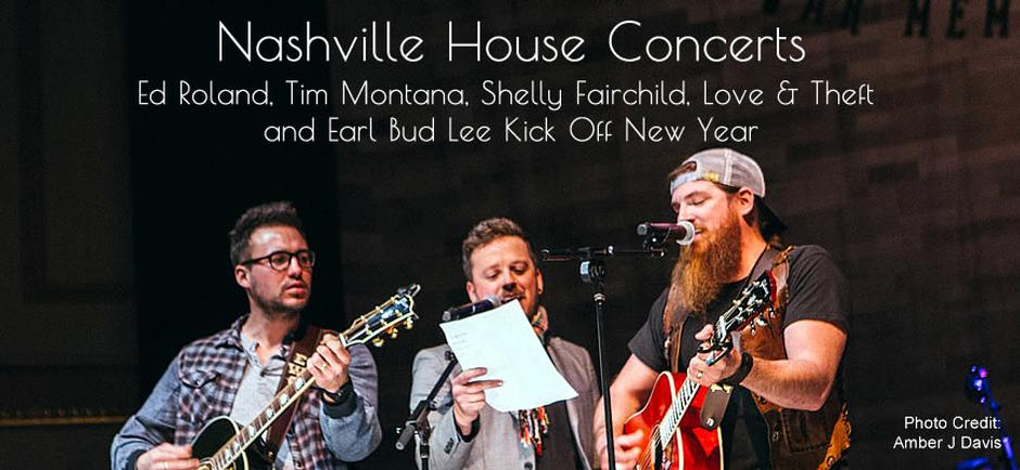 Press Release: Ed Roland, Tim Montana, Shelly Fairchild, Love & Theft and Earl Bud Lee Kick Off New Year with Rocking Nashville House Concert