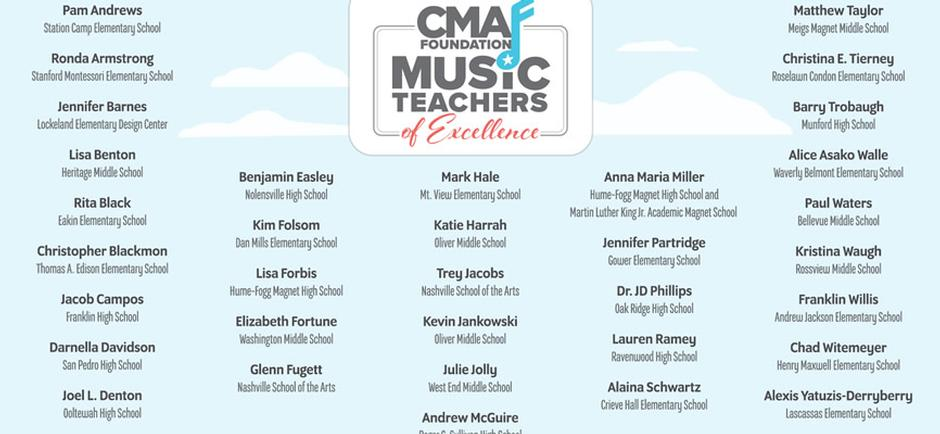 Chris Young, Hunter Hayes, Kix Brooks, Charlie Worsham, & Craig Wayne Boyd deliver a special message To CMA Foundation and Music Teachers