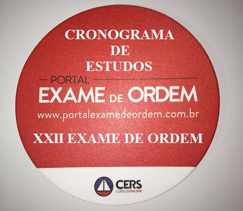 Cronograma de estudos para o XXII Exame de Ordem