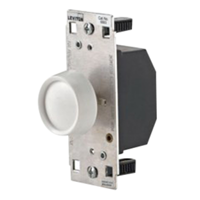 Leviton 6060-C0E Cheetah Rotary Dimmer 120 Volt AC, 600 Watt, Incandescent, Black,