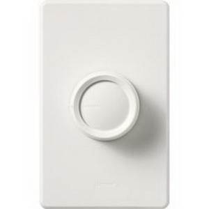 Lutron FS-5FH-WH Fully Variable Fan Speed Control 120 Volt AC, 5 Amp, Single Pole, Rotary On\/Off, White,