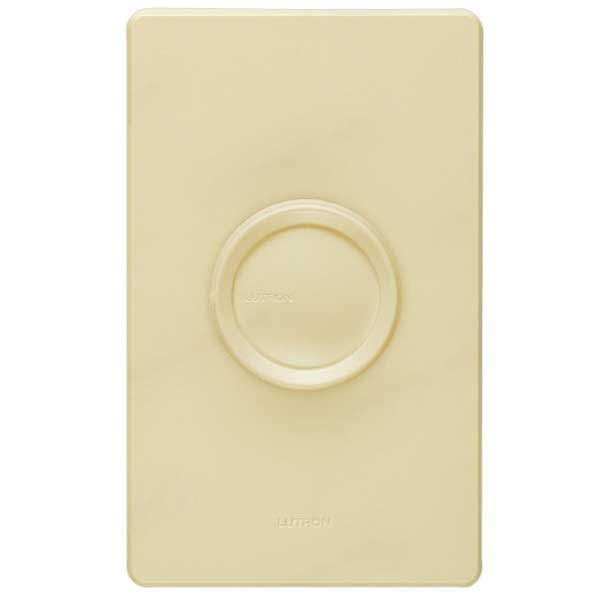 Lutron FS-5E-IV Fully Variable Fan Speed Control 120 Volt AC, 5 Amp, Single Pole, Rotary On\/Off, Ivory,