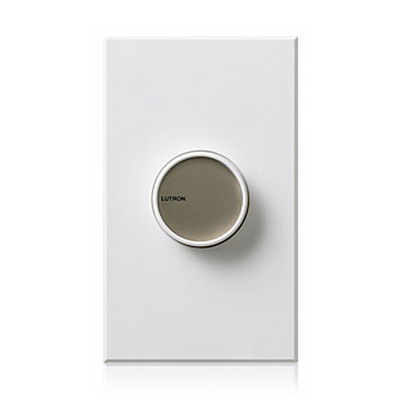 Lutron C-600-BE Centurion Small Control Rotary On\/Off Dimmer Switch 120 Volt AC, Beige Color Matte Finish, Wall Box Mount,