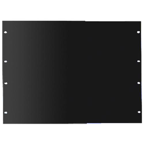 Hoffman P19RPP4UB Rack Panel Surface Mount, 7 Inch Height, 12 Gauge Steel, Polyester Powder-Coated, Black,