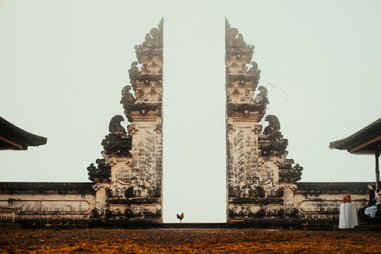 gates at Temple of Lempuyang Luhur in Bali
