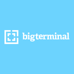 Bigterminal logo on blue