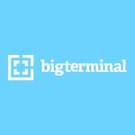 Bigterminal logo on blue