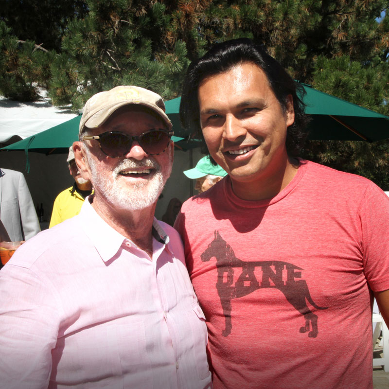 CFC Founder Norman Jewison with actor Adam Beach at the CFC Annual BBQ Fundraiser. Photo credit: Danilo Ursini