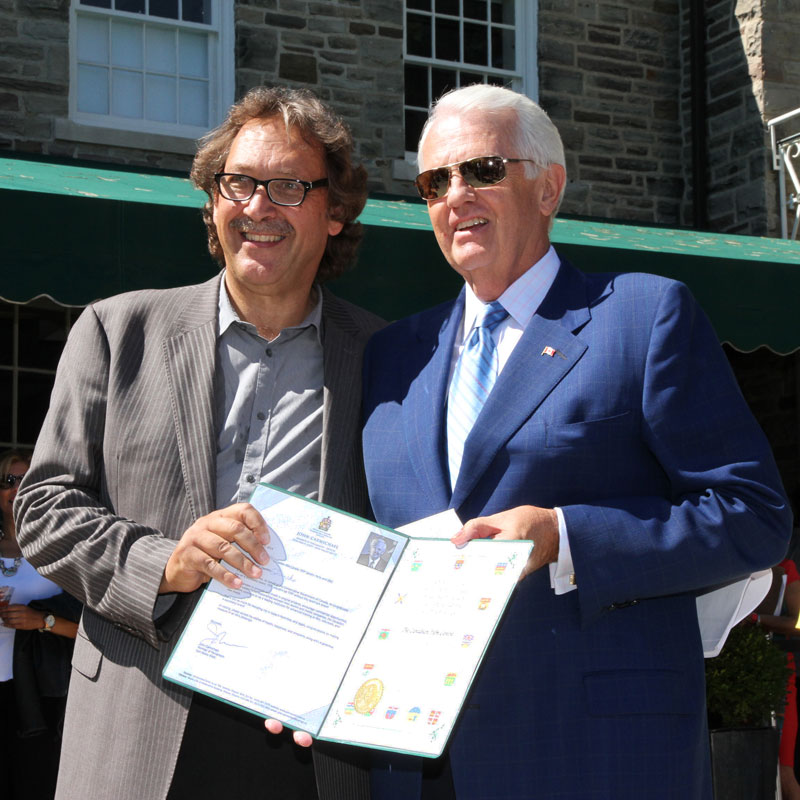 Slawko Klymkiw, CFC's CEO with John Carmichael, MP, DonValley West. Photo credit: Danilo Ursini