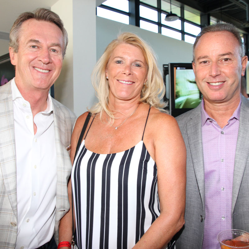 Ron and Sharon Suter with David Zitzerman inside the Northern Dancer Pavilion at the CFC Annual BBQ Fundraiser. Photo credit: Danilo Ursini