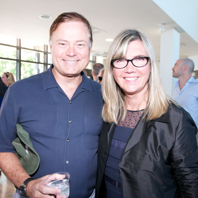 CFC Board Member Blake Goldring with CFC's Chair of the Board of Directors Christina Jennings at the 2014 Annual BBQ Fundraiser on Sunday, September 7, 2014.