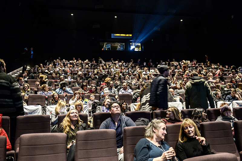 The audience gathers for the screening of the 2016 Cineplex Entertainment Film Program Showcase