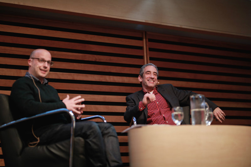 Rushkoff on stage Photo credit: Brian Simon