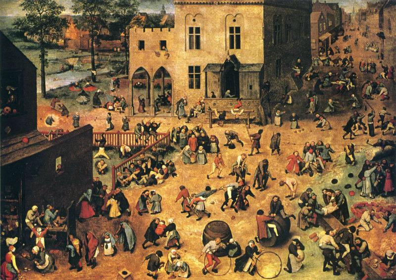 Pieter Bruegel painting of children playing games