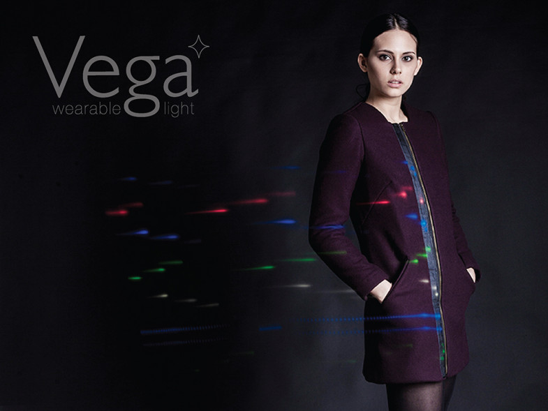 Woman wearing Vega light suit