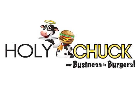 Logo for Holy Chuck Burgers