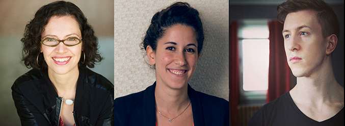 From left to right, headshots of two women and one man.