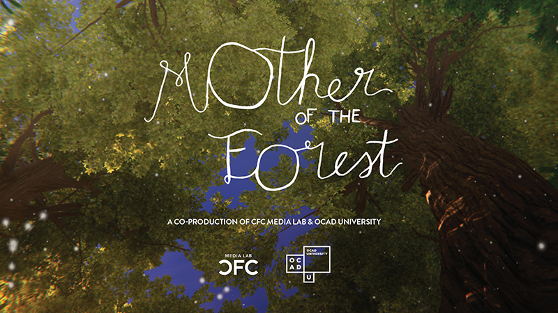 Poster for virtual reality production 'Mother of the Forest'