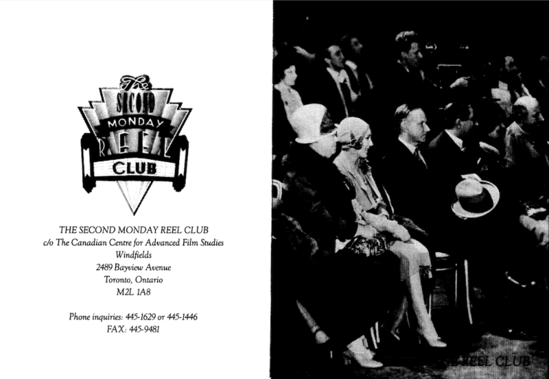 An old black and white invitation to a film screening