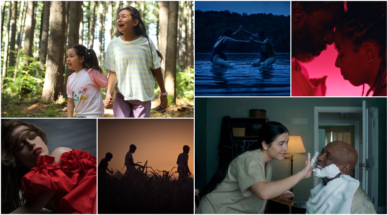 A collage of various film stills