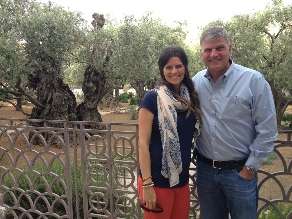 Inside the Garden of Gethsemane, where the olive trees are 2,000 years old.