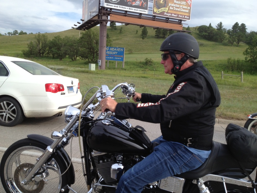 Dad on his Harley