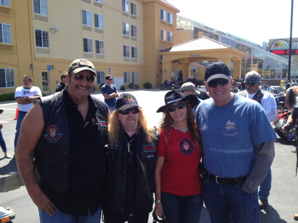 My dad and friend Dennis Agajanian, with the President of Bikers for Christ, Pastor Fred Z and his wife.
