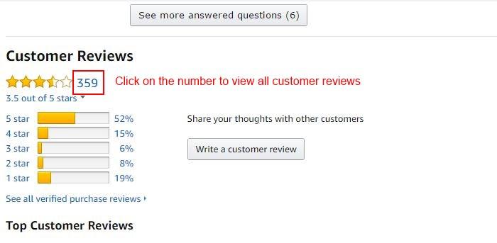 Amazon customer views