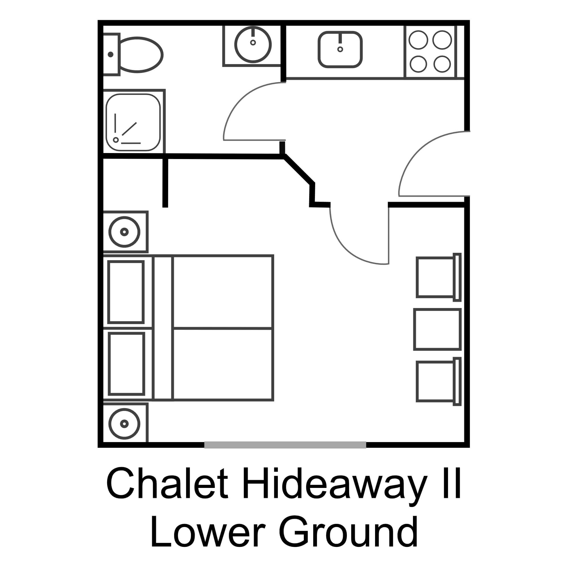 Chalet hideaway ii lower ground