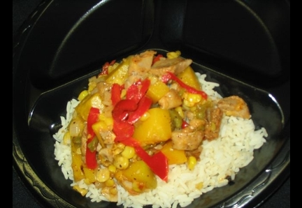 Stir-Fry Fajita Chicken, Squash, and Corn