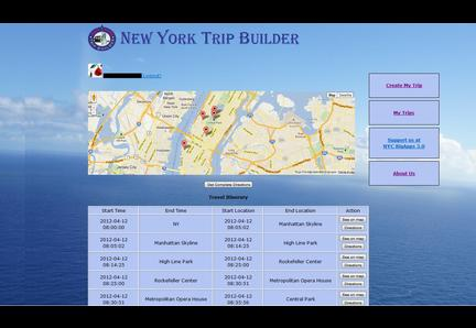 New York Trip Builder