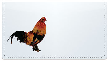 Rooster & Hen Checkbook Cover