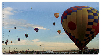 Hot Air Balloon Checkbook Cover