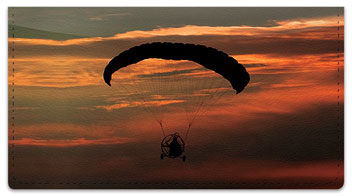 Powered Parachute Checkbook Cover