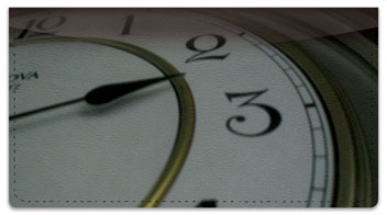 Classic Clock Checkbook Cover