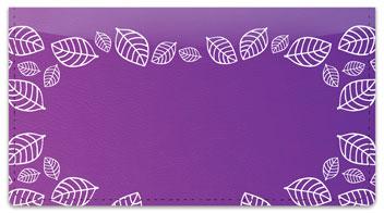 Purple Leaf Border Checkbook Cover