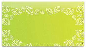 Yellow Leaf Border Checkbook Cover