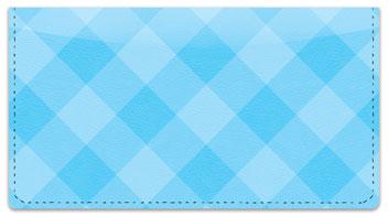 Blue Plaid Checkbook Cover