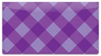Purple Plaid Checkbook Cover