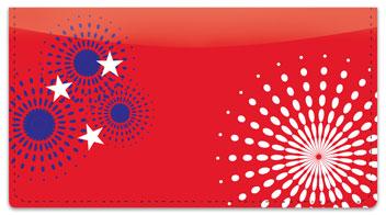 Patriotic Fireworks Checkbook Cover
