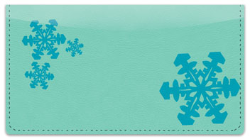 Snowflake Checkbook Cover
