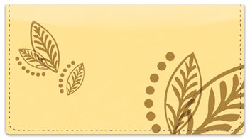 Flower Tattoo Checkbook Cover